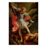 The Archangel Michael defeating Satan Poster