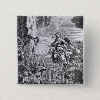 The archangel Uriel informs Gabriel 15 Cm Square Badge