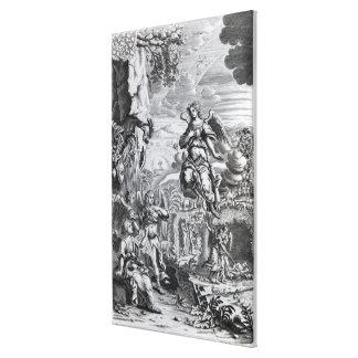 The archangel Uriel informs Gabriel Gallery Wrap Canvas