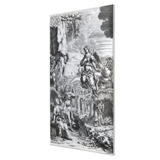 The archangel Uriel informs Gabriel Canvas Print