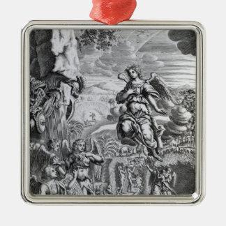 The archangel Uriel informs Gabriel Christmas Ornament