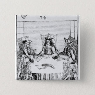 The Archduke of Austria Declared King of Spain 15 Cm Square Badge