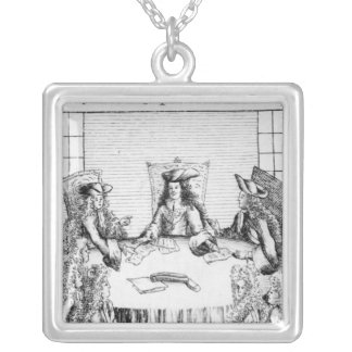 The Archduke of Austria Declared King of Spain Silver Plated Necklace