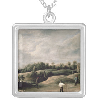 The Archery Contest Silver Plated Necklace