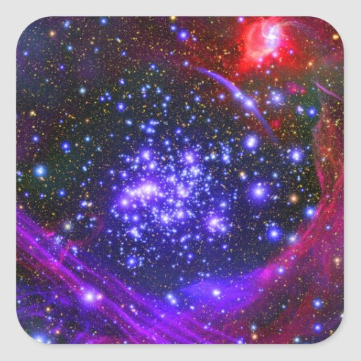 The Arches star cluster deep inside the hub Square Sticker