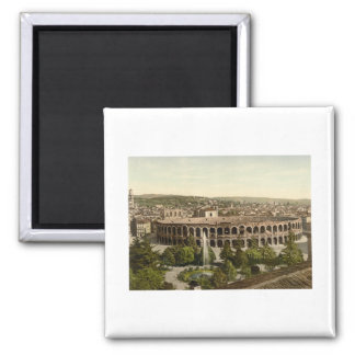 The Arena, Verona, Italy Square Magnet