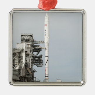 The Ares I-X rocket is seen on the launch pad 2 Silver-Colored Square Decoration