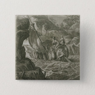 The Argonauts Pass the Symplegades (engraving) 15 Cm Square Badge