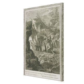 The Argonauts Pass the Symplegades (engraving) Canvas Print