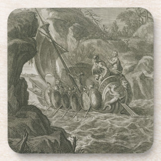 The Argonauts Pass the Symplegades (engraving) Drink Coasters
