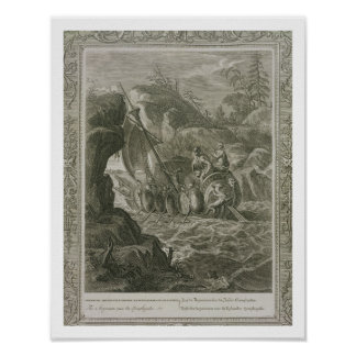 The Argonauts Pass the Symplegades (engraving) Poster