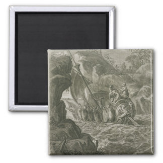 The Argonauts Pass the Symplegades (engraving) Square Magnet