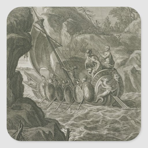 The Argonauts Pass the Symplegades (engraving) Stickers