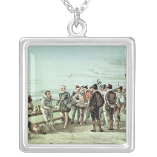 The Armada of 1888 in Sight Silver Plated Necklace