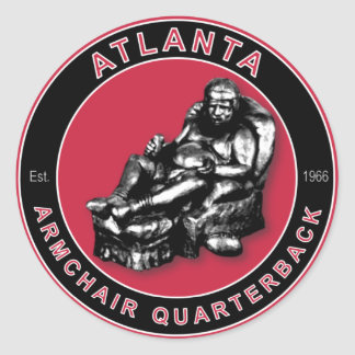 THE ARMCHAIR QB - Atlanta Classic Round Sticker