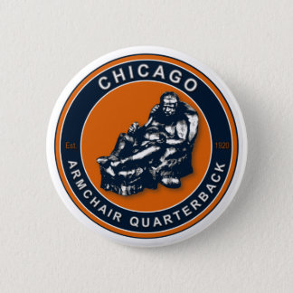 THE ARMCHAIR QB - Chicago 6 Cm Round Badge