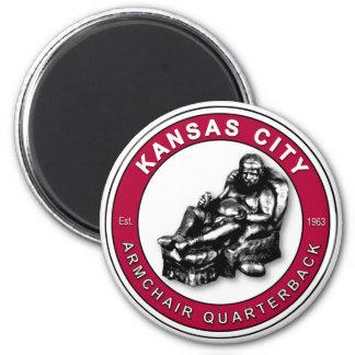 THE ARMCHAIR QB - Kansas City 6 Cm Round Magnet