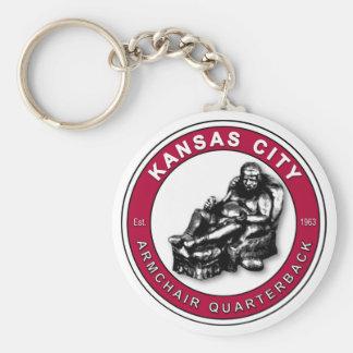 THE ARMCHAIR QB - Kansas City Basic Round Button Key Ring
