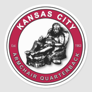 THE ARMCHAIR QB - Kansas City Round Sticker