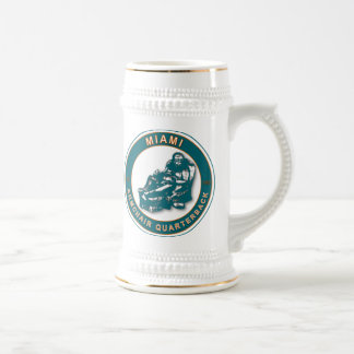 THE ARMCHAIR QB - Miami Beer Stein