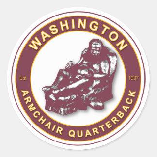 THE ARMCHAIR QB - Washington Round Sticker