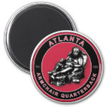 The Armchair Quarterback - Atlanta Football 6 Cm Round Magnet