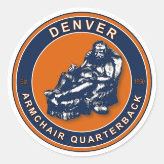 The Armchair Quarterback Denver Football Stickers