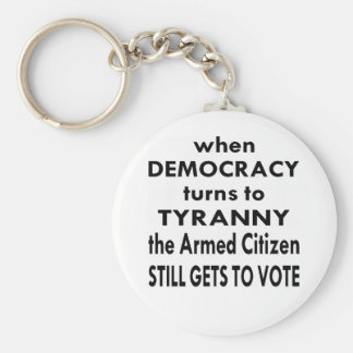 The Armed Citizen Still Gets To Vote Keychain