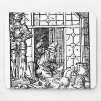 The Armour Maker, engraved by Hartman Schopper Mouse Mat