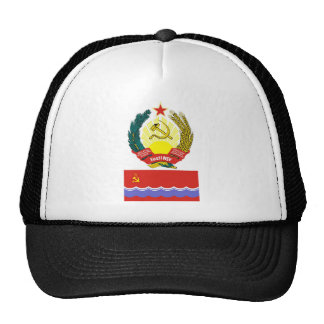 The arms and flag Estonian Soviet Socialist Rep Mesh Hat