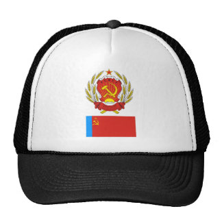 The arms and flag Russian Soviet Socialist Rep Hats