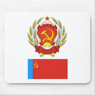 The arms and flag Russian Soviet Socialist Rep. Mouse Pad