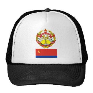 The arms and flag the Azerbaijan Soviet Socialist Cap