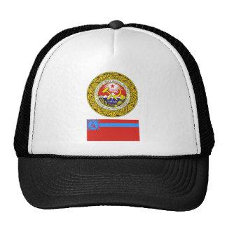 The arms and flag the Georgian Soviet Socialist R Hats