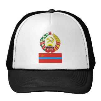 The arms and flag the Uzbek Soviet Socialist Repub Mesh Hat