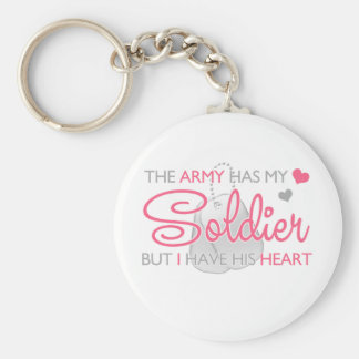 The Army Has My Soldier Basic Round Button Key Ring