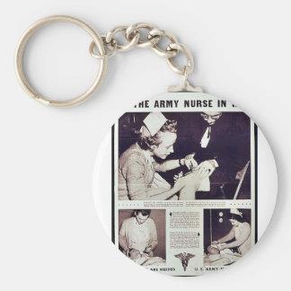 The Army Nurse In War Key Chains
