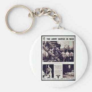 The Army Nurse In War Key Chain