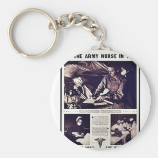 The Army Nurse In War Keychain