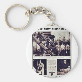 The Army Nurse In War Keychains