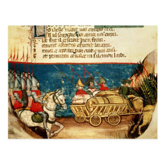 The Army of Charlemagne  and the Transportation Postcard