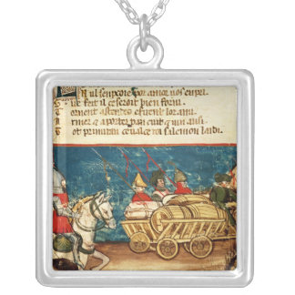 The Army of Charlemagne  and the Transportation Silver Plated Necklace