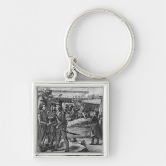 The army of Tadeusz Kosciuszko, 1794 Silver-Colored Square Key Ring
