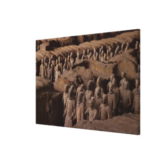 The Army of terra cotta warriors at Emperor Qin Stretched Canvas Prints