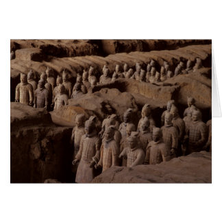 The Army of terra cotta warriors at Emperor Qin Card