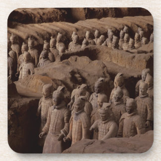 The Army of terra cotta warriors at Emperor Qin Drink Coaster