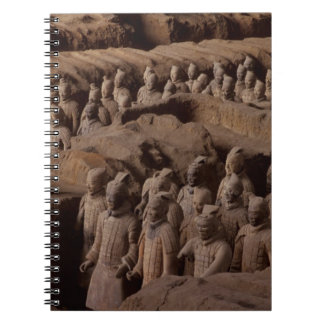 The Army of terra cotta warriors at Emperor Qin Notebooks