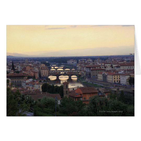 The Arno river and Ponte Vecchio in Florence,