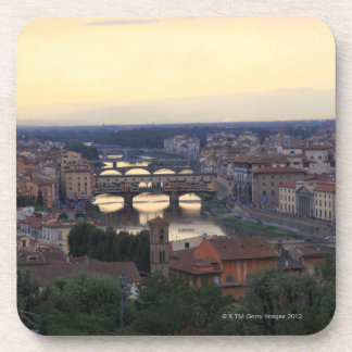 The Arno river and Ponte Vecchio in Florence, Coaster