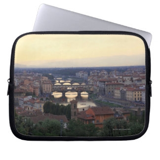The Arno river and Ponte Vecchio in Florence, Computer Sleeve